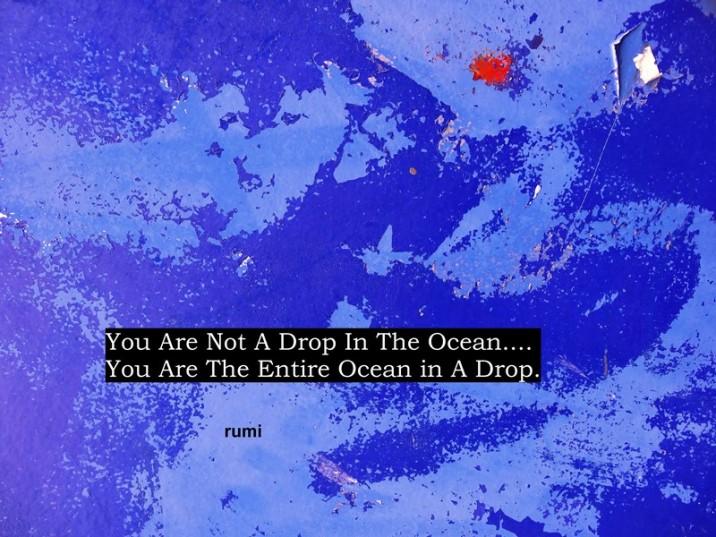 MoArt urban abstract 136 met spreuk Rumi small