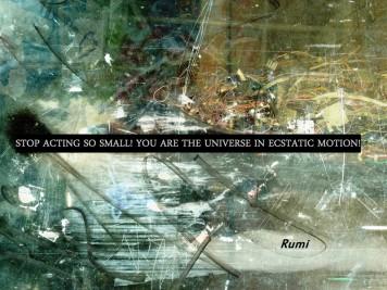 MoArt urban abstract 182 ori met spreuk Rumi small