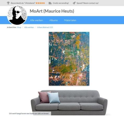 MoArt Urban Abstract 335 boven bank
