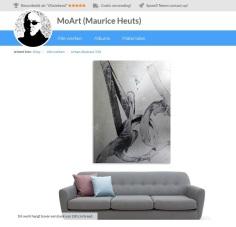 MoArt Urban Abstract 338 boven bank