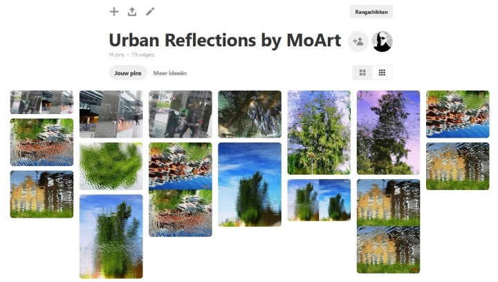 MoArt Urban Reflections op Pinterest